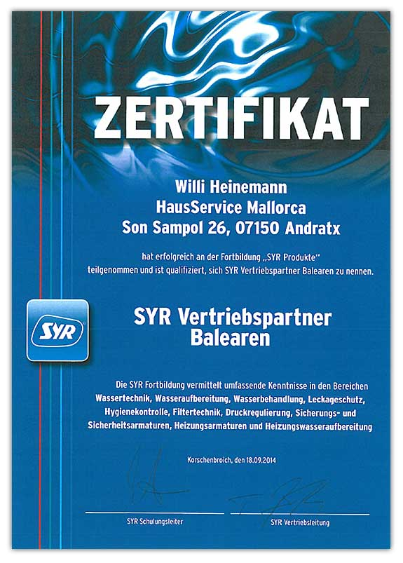 SYR Vertriebspartner Balearen